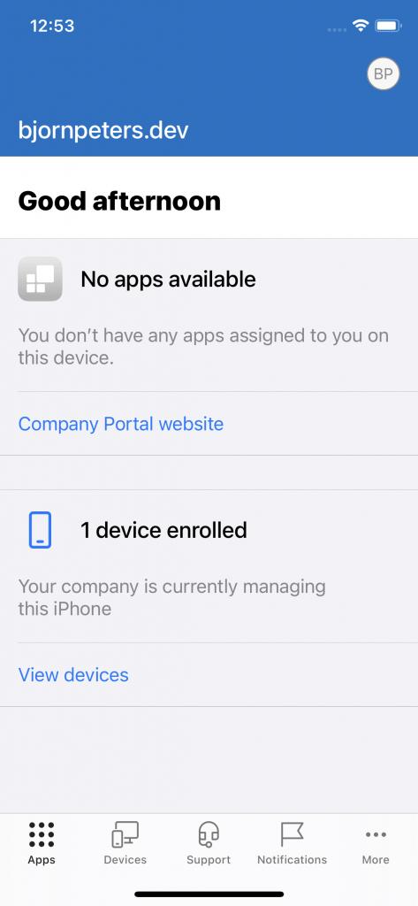 Company Portal App - Overview